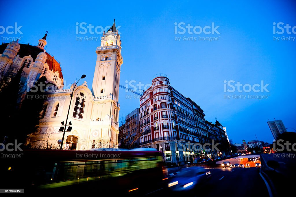 Madrid Spain at Dusk royalty-free stock photo