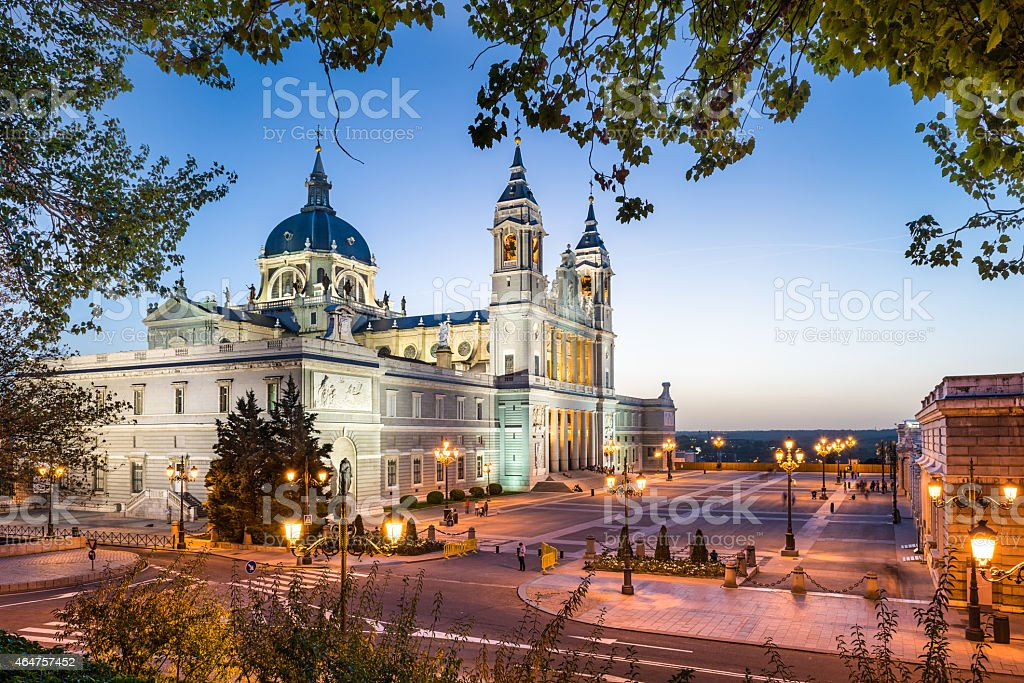 Madrid, Spain Cathedral stock photo