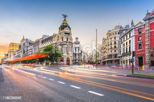 istock Madrid, Spain cityscape a 1180263342