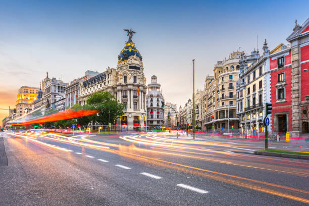 Madrid, Spain cityscape a stock photo