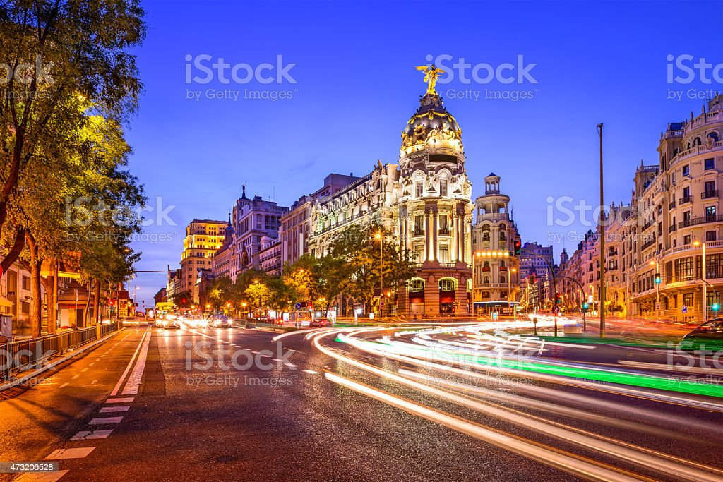 Madrid Spain Cityscape stock photo