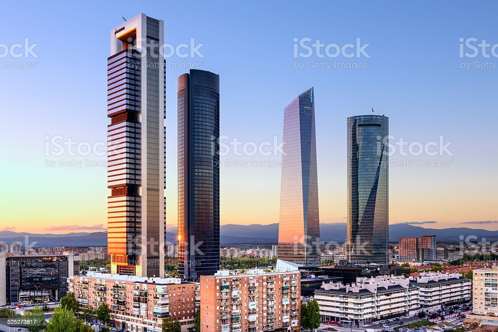 Madrid, Spain Financial District stock photo