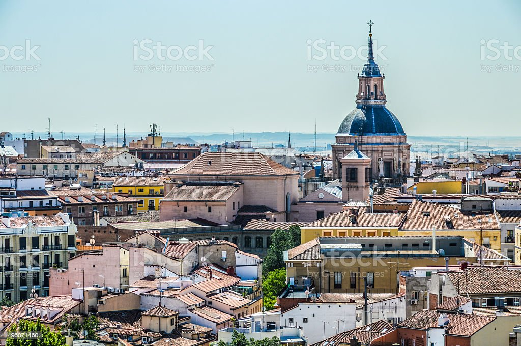Madrid, Spain - Skyline stock photo