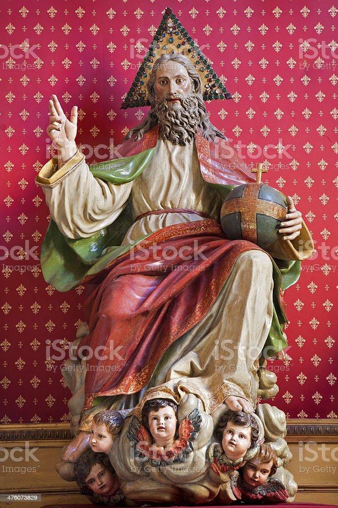 Madrid - Statue of God the Creator stock photo