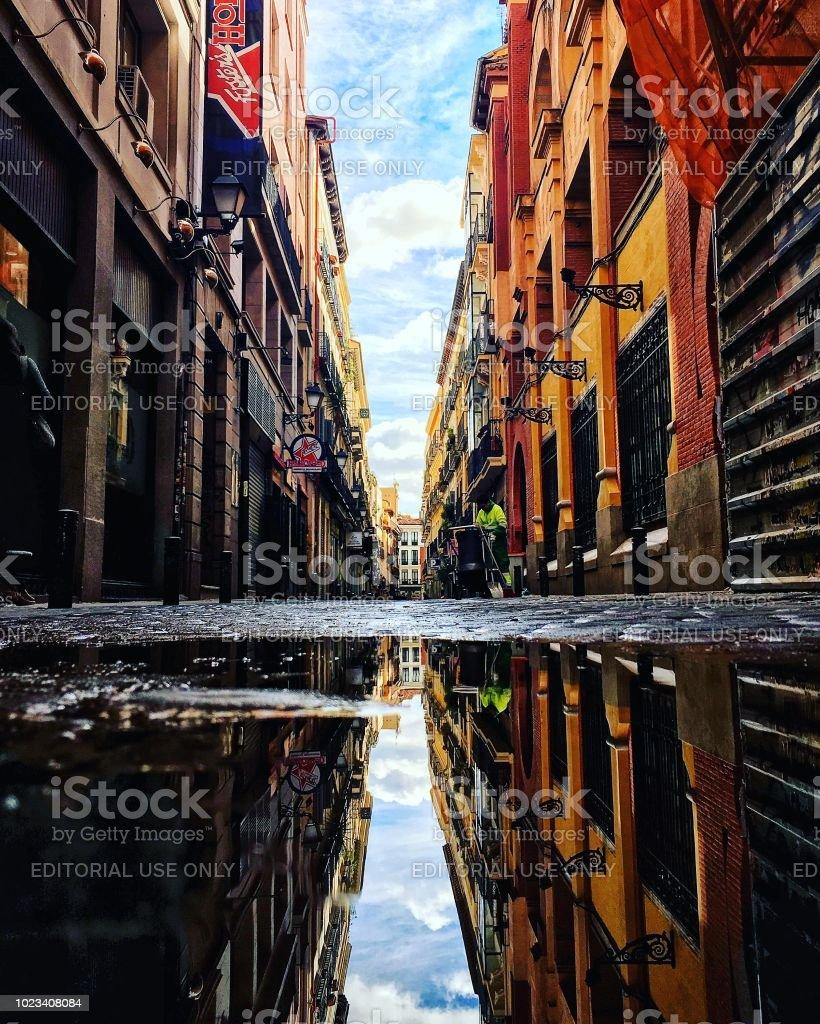 Calles de Madrid - foto de stock