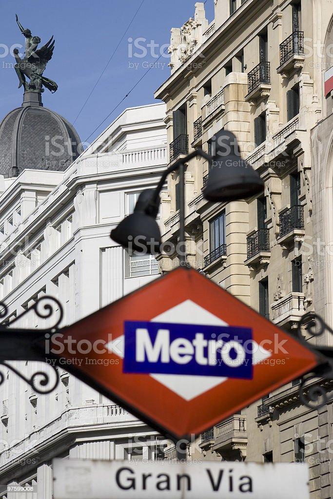 Madrid subway station sign royalty-free stock photo