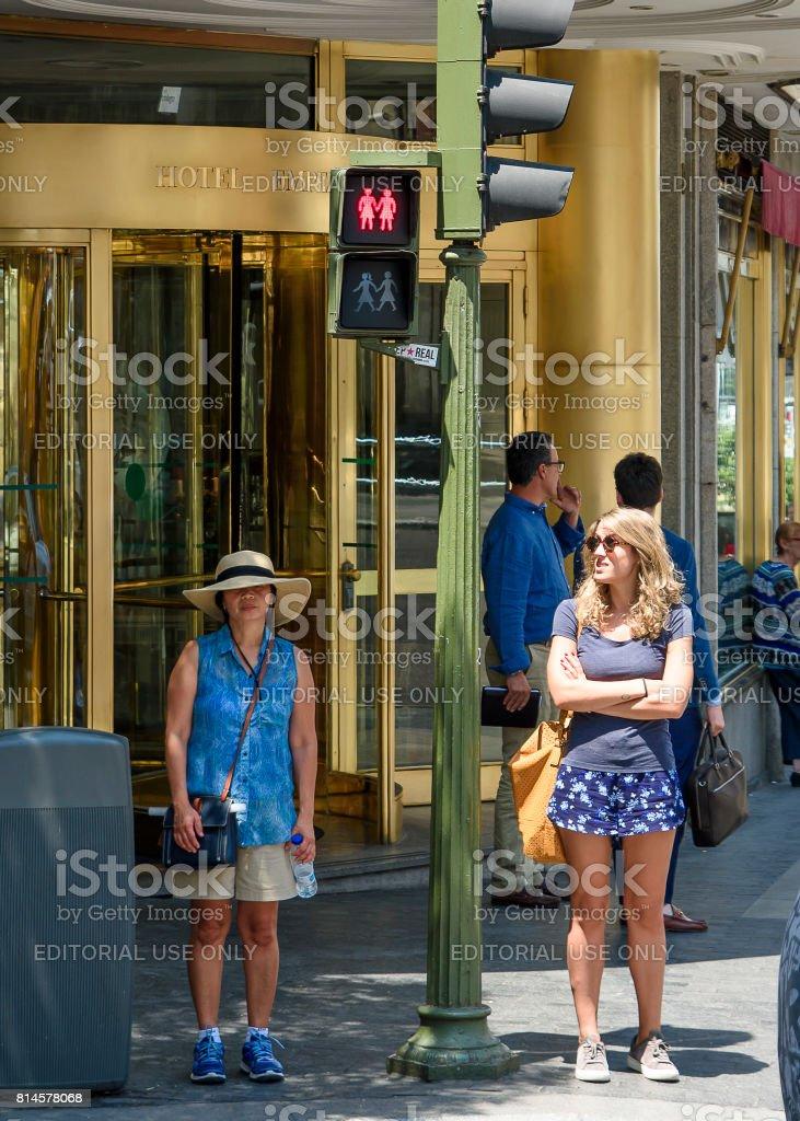 Madrid summer stock photo