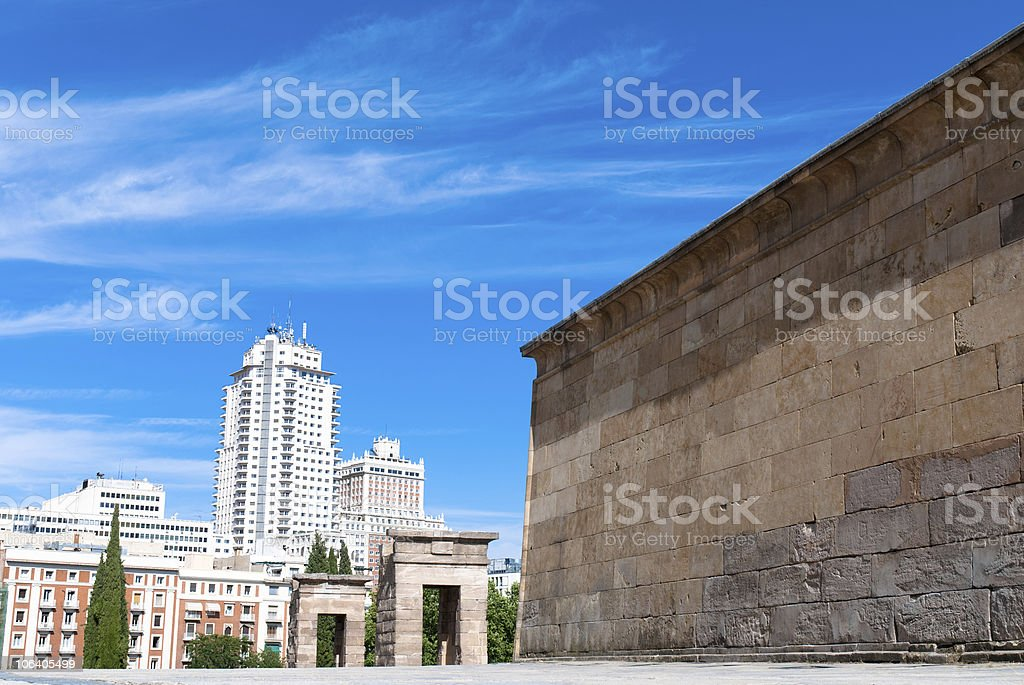 Madrid, The Temple of Debod royalty-free stock photo