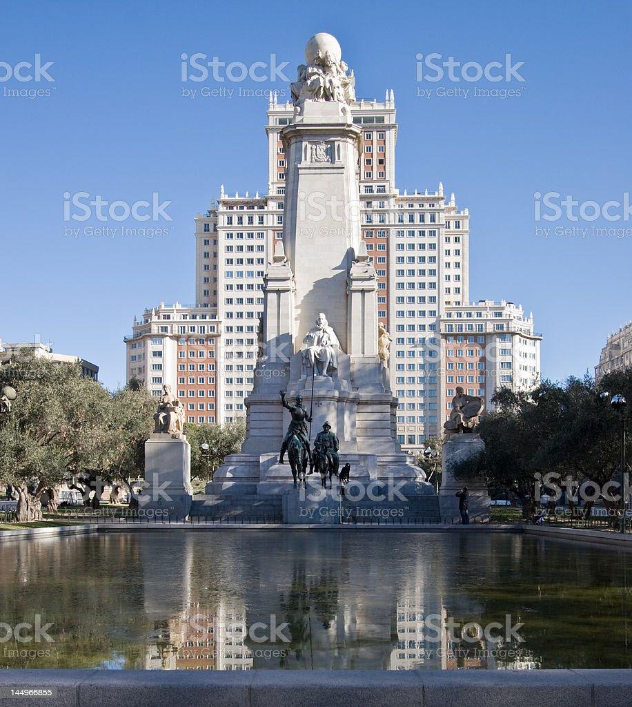 Madrids Plaza Espana royalty-free stock photo