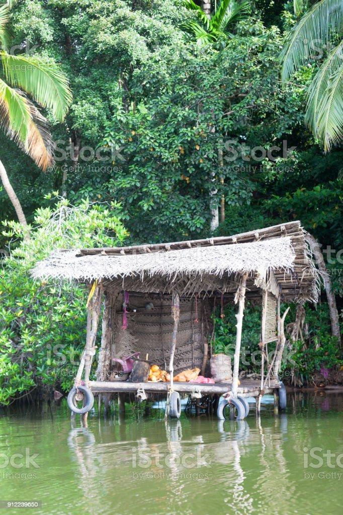 Madu Ganga, Balapitiya, Sri Lanka - Boxenstopp in einem traditionellen Fluss-shop – Foto