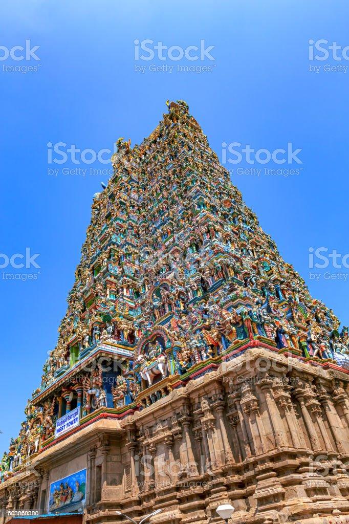 Madurai, India - Meenakshi Amman Hindu Temple stock photo