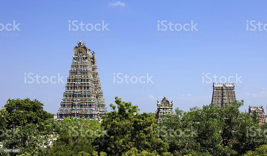 Madurai, India - Sri Meenakshi Hindu Temple stock photo