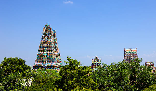 Madurai, India - Sri Meenakshi Hindu Temple stock photo