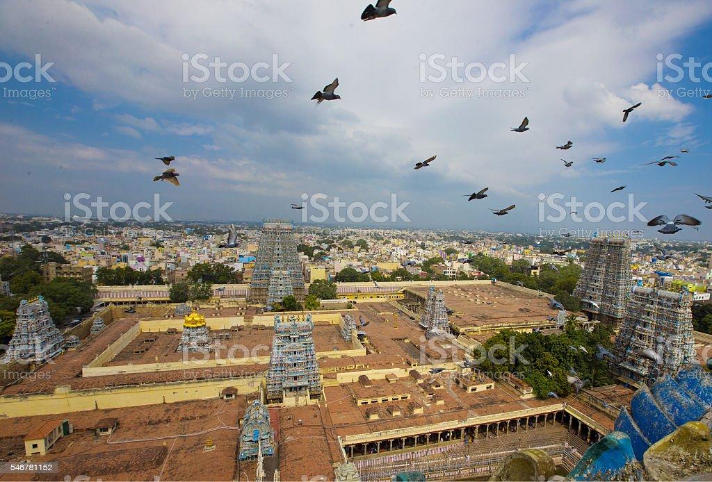 Madurai Meenakshi Amman TempleMadurai Meenakshi Amman Temple stock photo