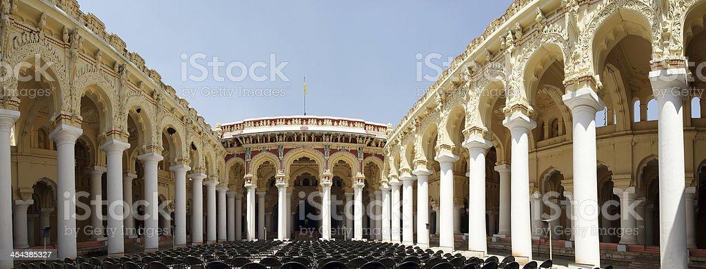 Madurai, Tamil Nadu, South India. Thirumalai Nayakkar Mahal palace complex stock photo