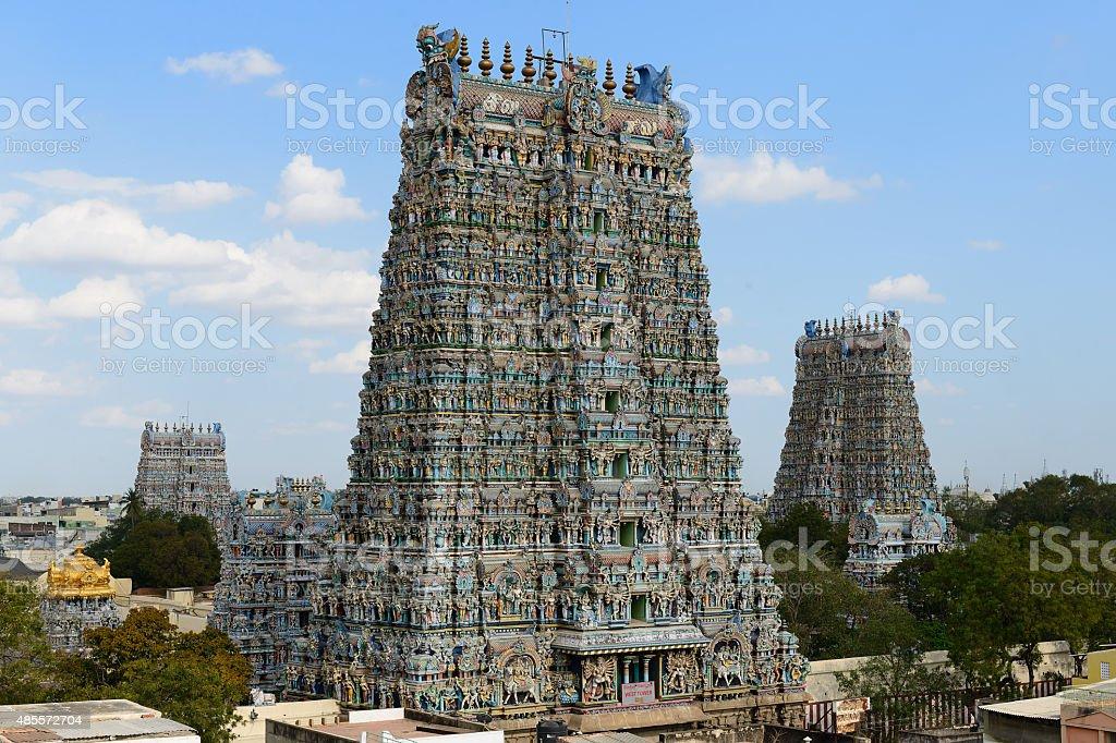 Madurai temple stock photo
