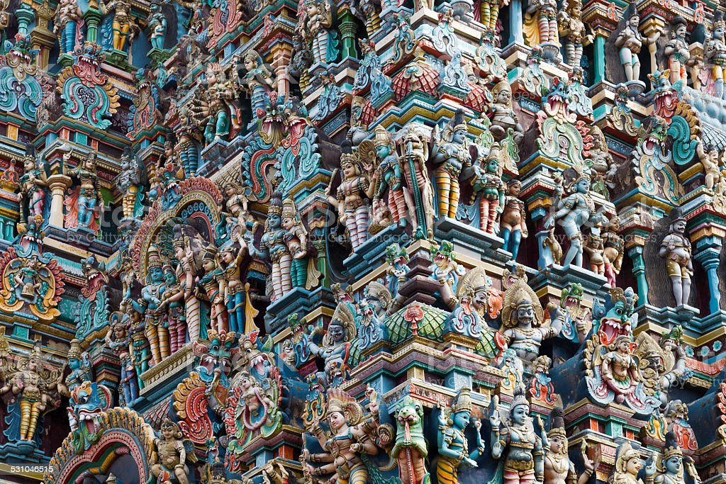 Madurai Temple, Tamilnadu, India. stock photo