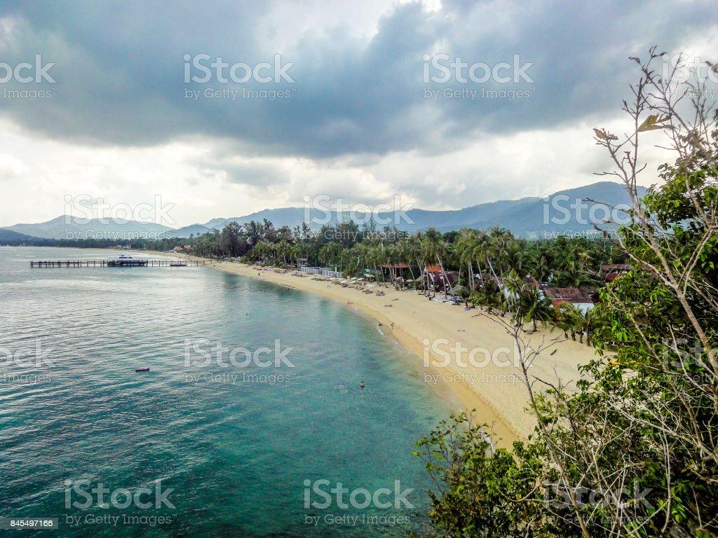 Mae Nam beach in Koh Samui Thailand stock photo