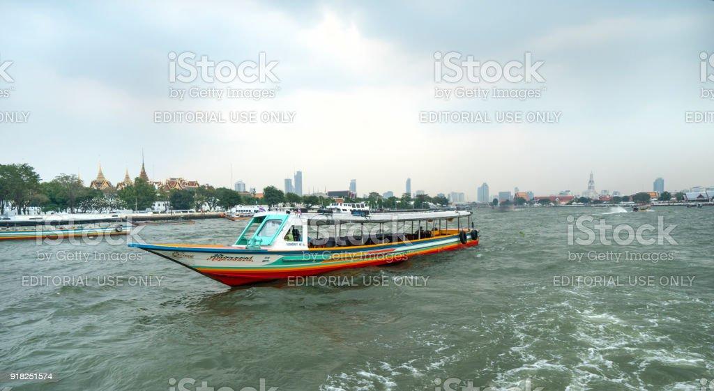Mae Nam Chao Phraya river in Bangkok stock photo