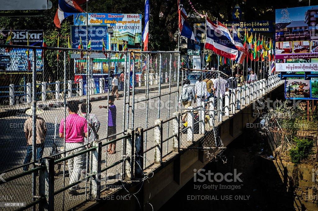 Mae Sai border bridge stock photo