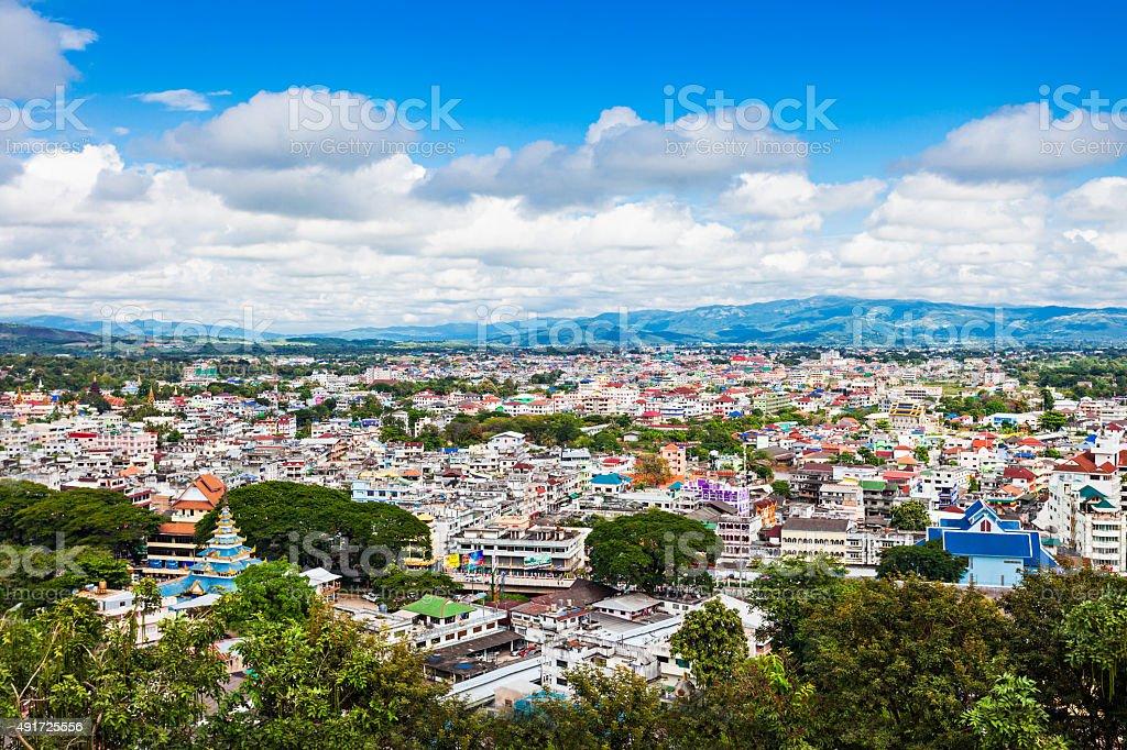 Mae Sai city stock photo