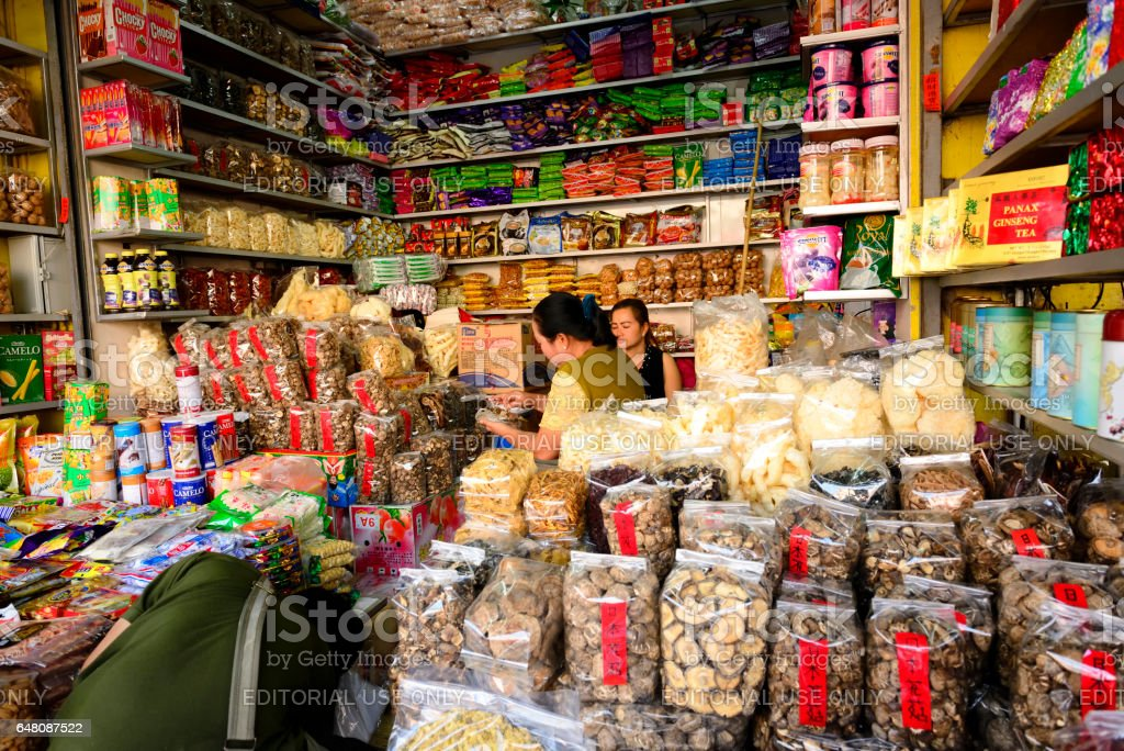 Mae Sai Street Market At Chiang Rai Thailand Stock Photo - Download
