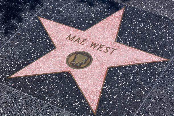mae west, dem walk of fame - mae west stock-fotos und bilder