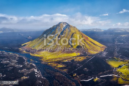 Maelifell Mountain in the Highlands of Iceland, post processed in HDR