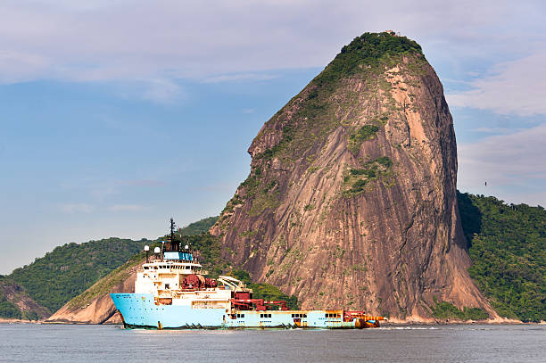 Royalty Free Maersk Launcher Ship In Guanabara Bay Pictures Images