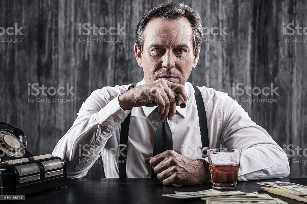 Mafia boss. stock photo