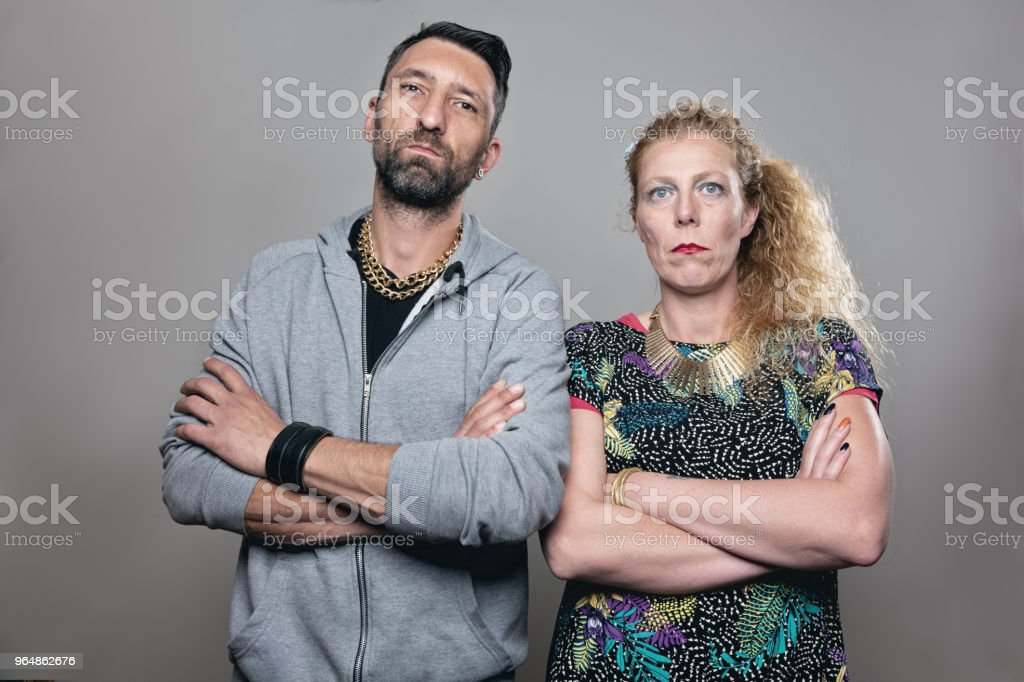 mafia couple with cool attitude royalty-free stock photo