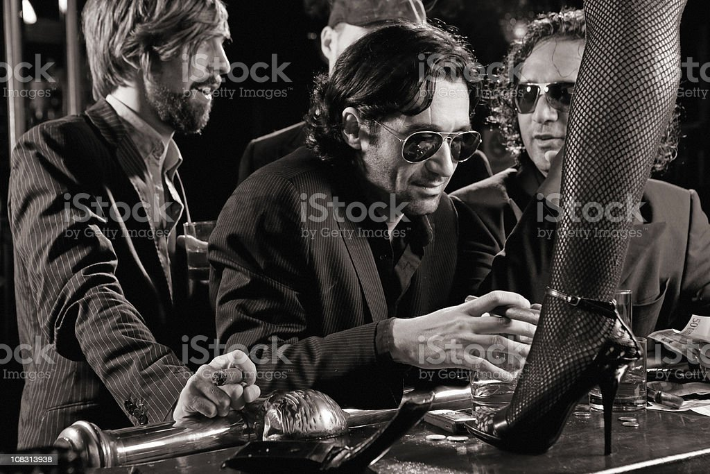 mafia drinking in bar royalty-free stock photo