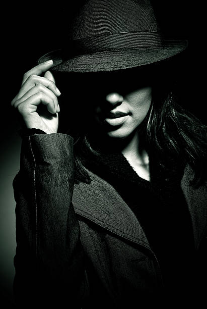 mafia girl - female spy stock photos and pictures