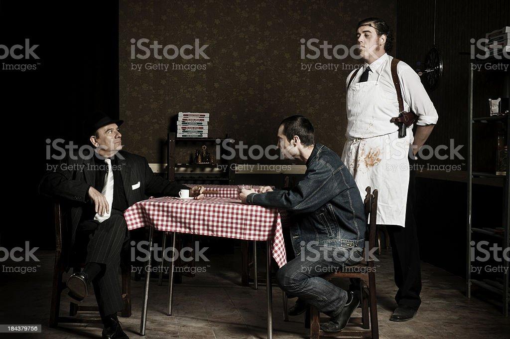 mafia story stock photo