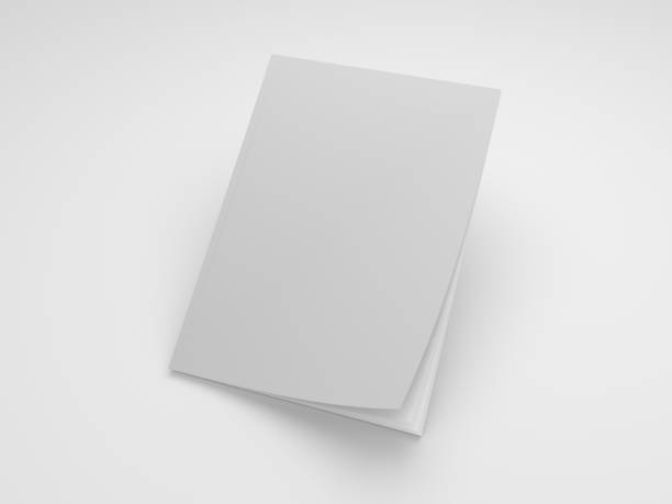 magazine 3d illustration mockup - magazine cover stock photos and pictures