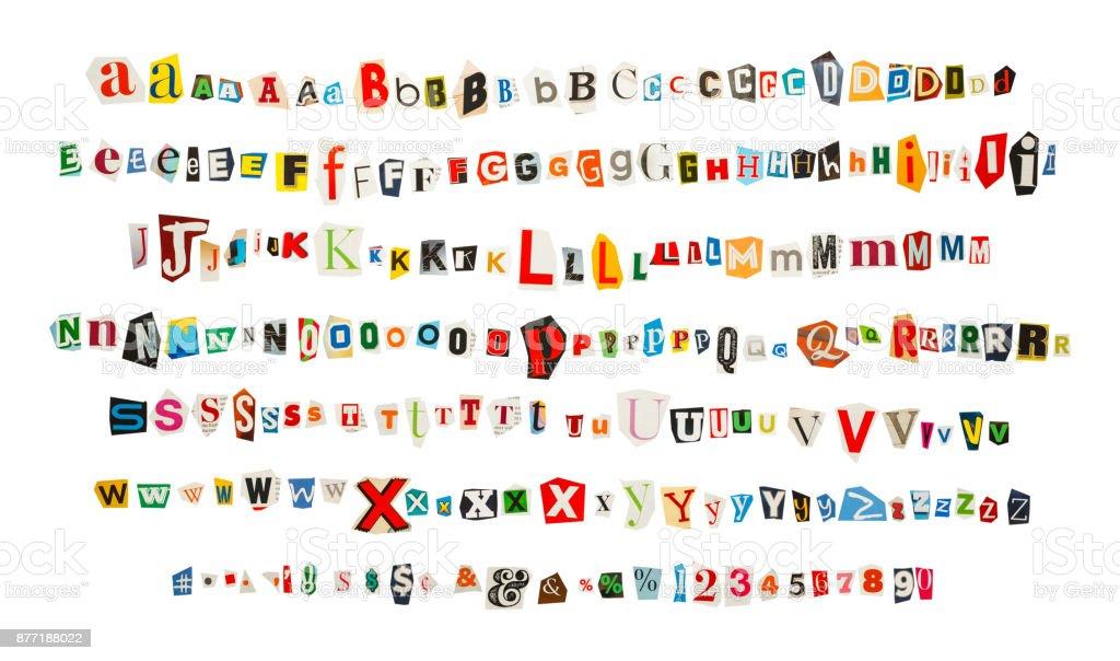 Magazine Alphabet