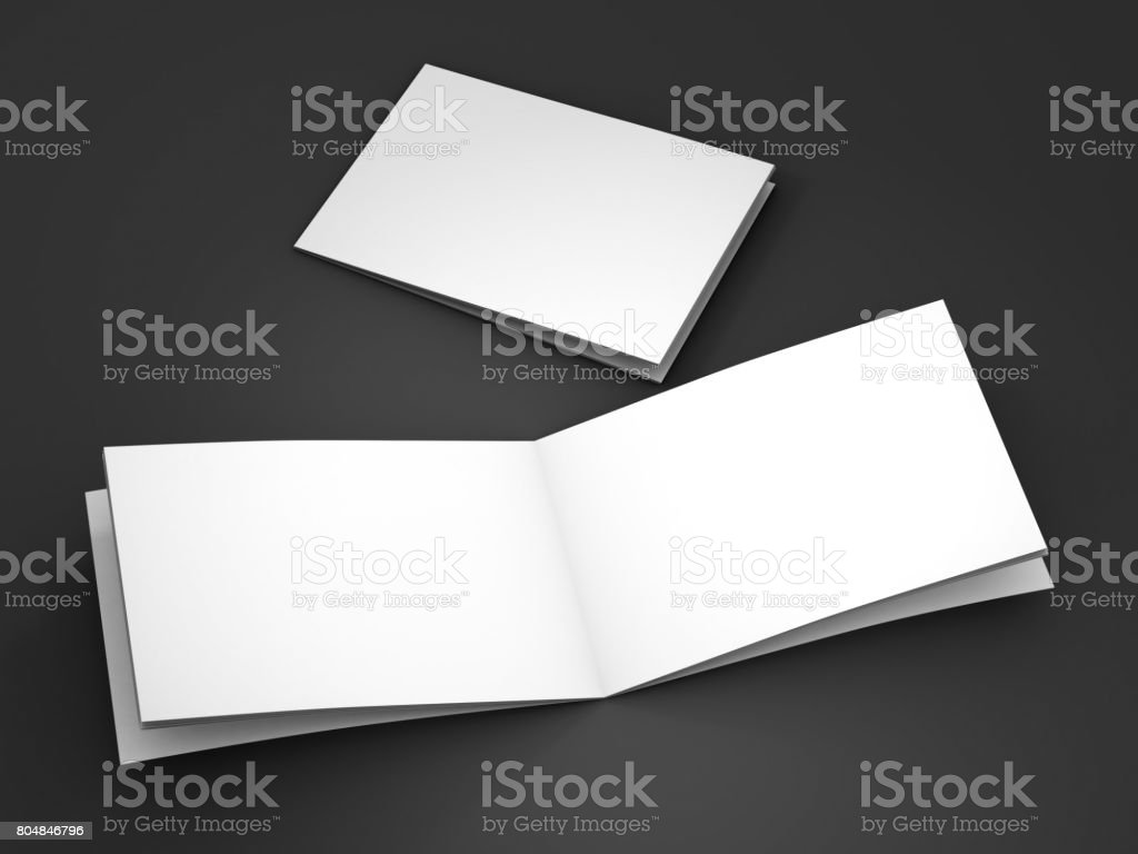 Magazine, book, booklet or brochure mockup. 3D rendering stock photo
