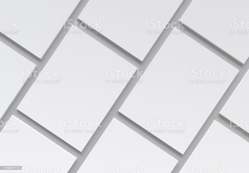 Magazin Deckt Muster auf grauem Hintergrund Mockup - Lizenzfrei Bibliothek Stock-Foto