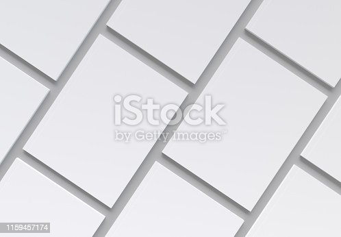 Magazine Covers Pattern on gray Background Mockup