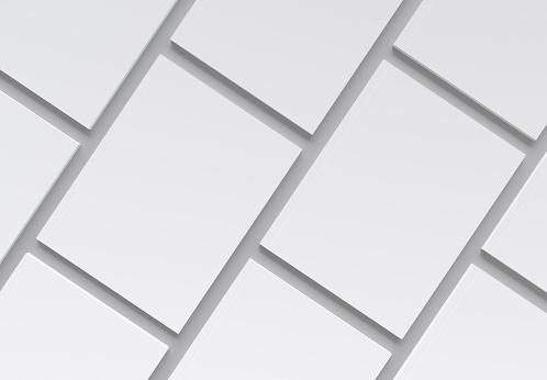 Magazine Covers Pattern on gray Background Mockup