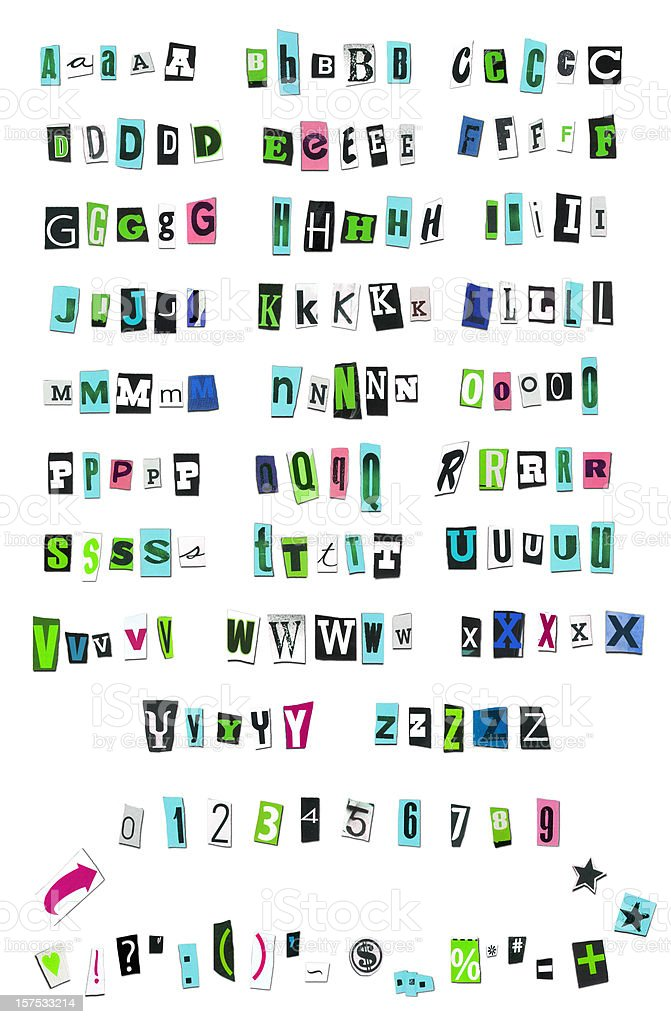 cut out letters magazine cut out letters stock photo amp more pictures of 13224