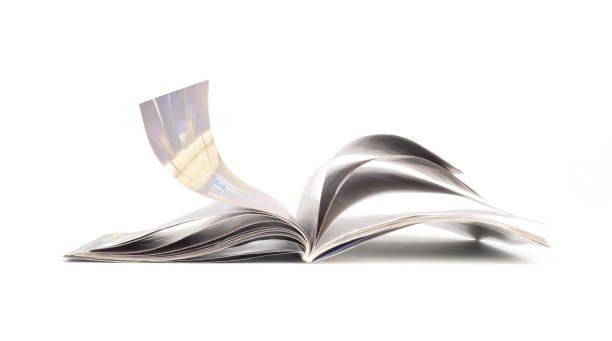 magazine isolated on white background - magazine stock photos and pictures