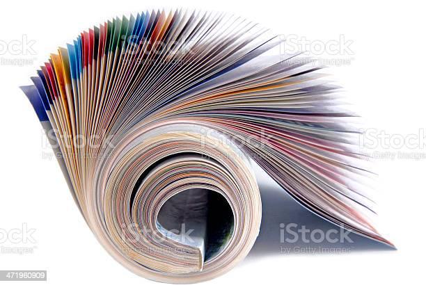 Magazine Isoliert Auf Weiss Stockfoto und mehr Bilder von Abonnement