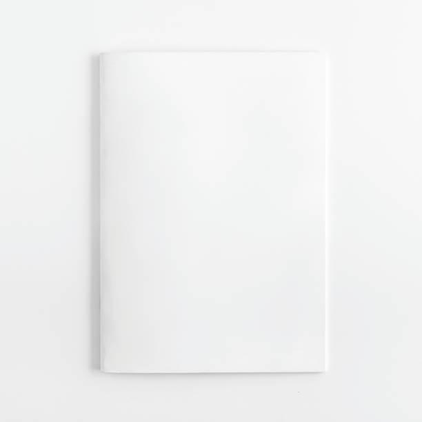 Magazine Mock Up On White Background stock photo
