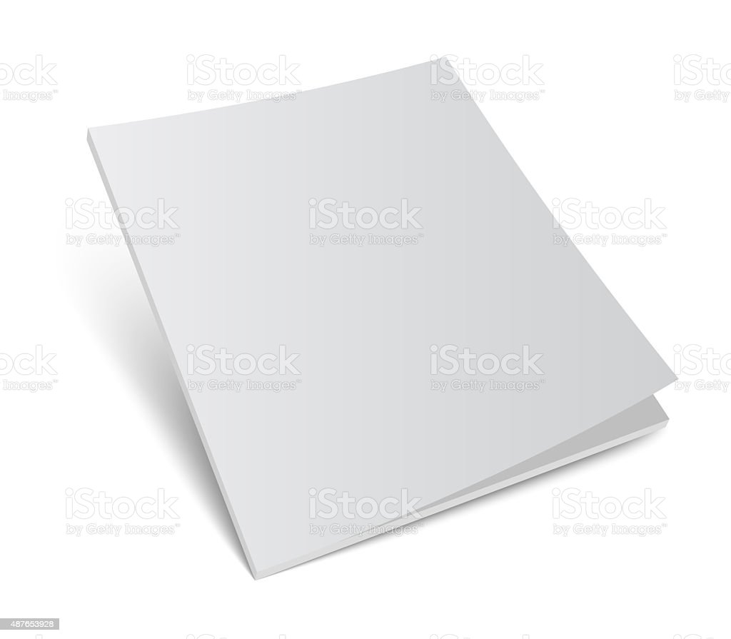 magazine or brochure cover mockup stock photo