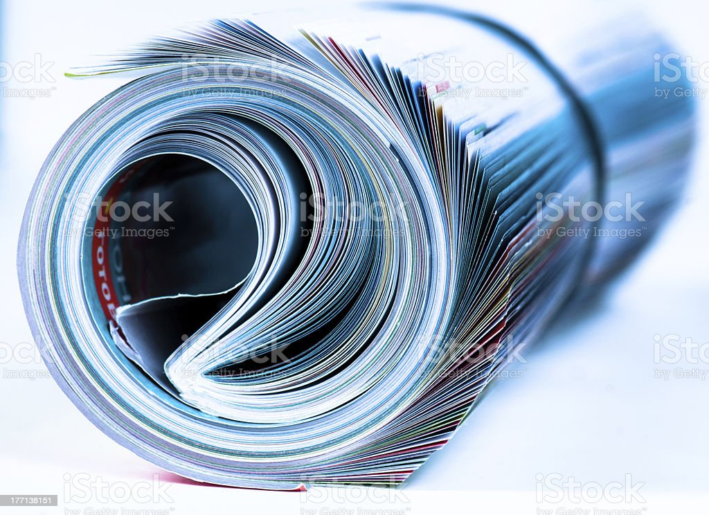 Magazine Roll. Side view. royalty-free stock photo
