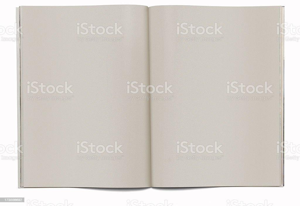 Magazine Spread Blank royalty-free stock photo