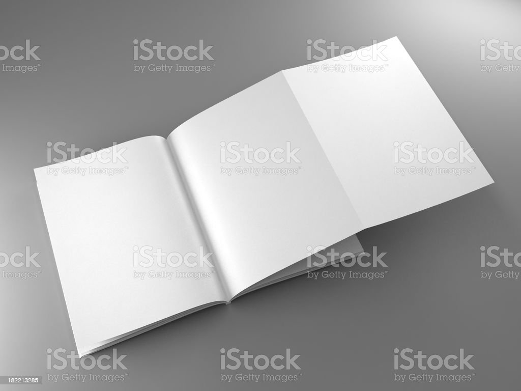 Magazine template stock photo