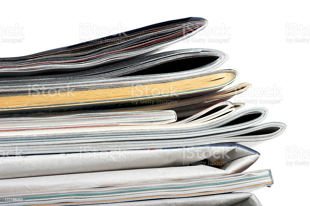 Magazines  and newspapers royalty-free stock photo