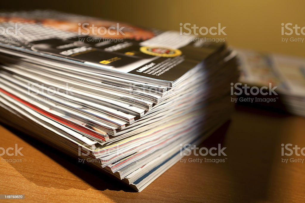 Magazines on the table royalty-free stock photo